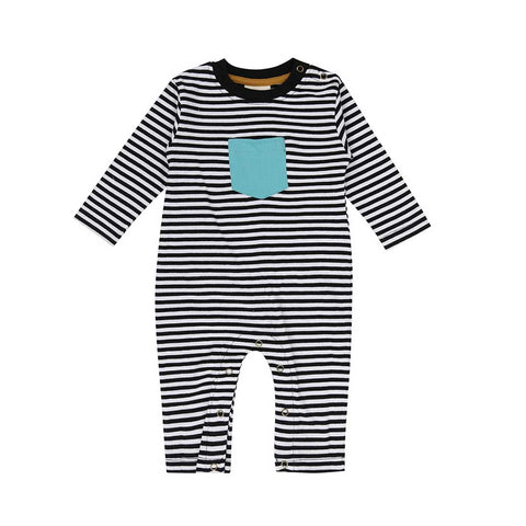 Turtledove London Humbug Stripe Playsuit - Mono-Rompers- Natural Baby Shower