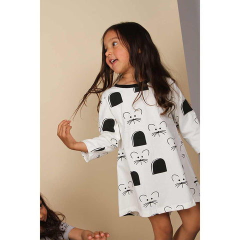 Turtledove London Insert Back Dress - Mouse House-Dresses- Natural Baby Shower