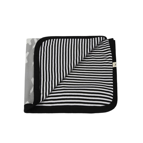 Turtledove London Jersey Blanket - Kisses/Stripe