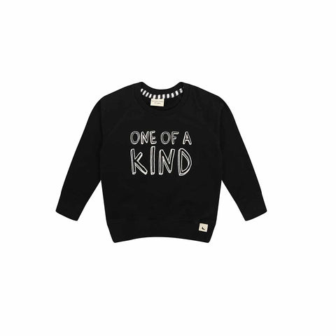 Turtledove London Kind Kid Sweatshirt - Black-Long Sleeves- Natural Baby Shower