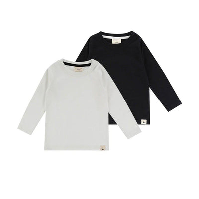 Turtledove London Layering Tops - Mono - 2 Pack-Long Sleeves- Natural Baby Shower