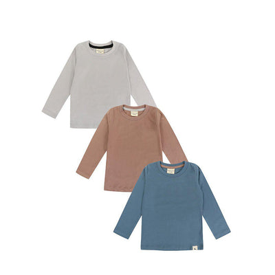 Turtledove London Layering Tops - Multi - 3 Pack-Long Sleeves- Natural Baby Shower