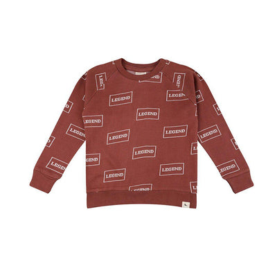Turtledove London Legend Sweat - Brick-Long Sleeves- Natural Baby Shower
