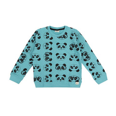 Turtledove London Panda Print Sweatshirt - Teal