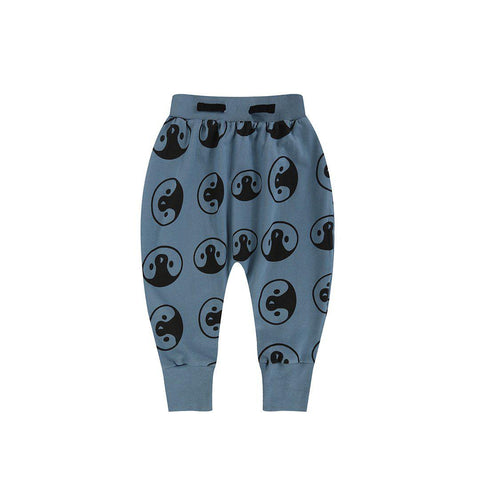 Turtledove London Penguin Head Harem Pants - Denim-Pants- Natural Baby Shower