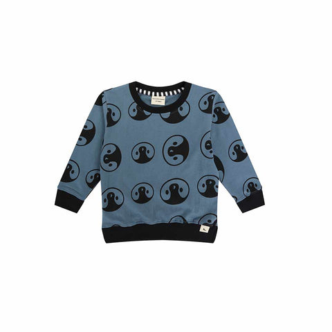 Turtledove London Penguin Sweatshirt - Denim-Long Sleeves- Natural Baby Shower