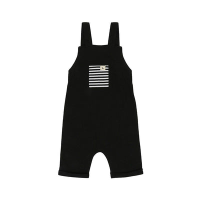 Turtledove London Plain Black Shortie Dungaree - Black-Dungarees- Natural Baby Shower