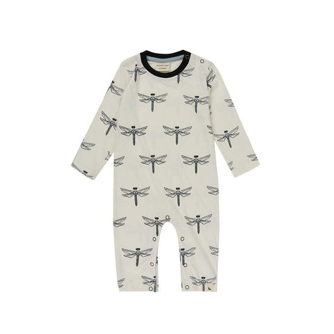 Turtledove London Printed Playsuit - Dragonfly Aop-Rompers- Natural Baby Shower