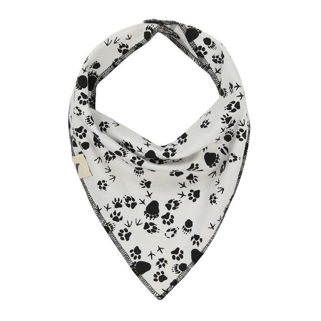 Turtledove London Reversible Bib - Kisses/Footprints