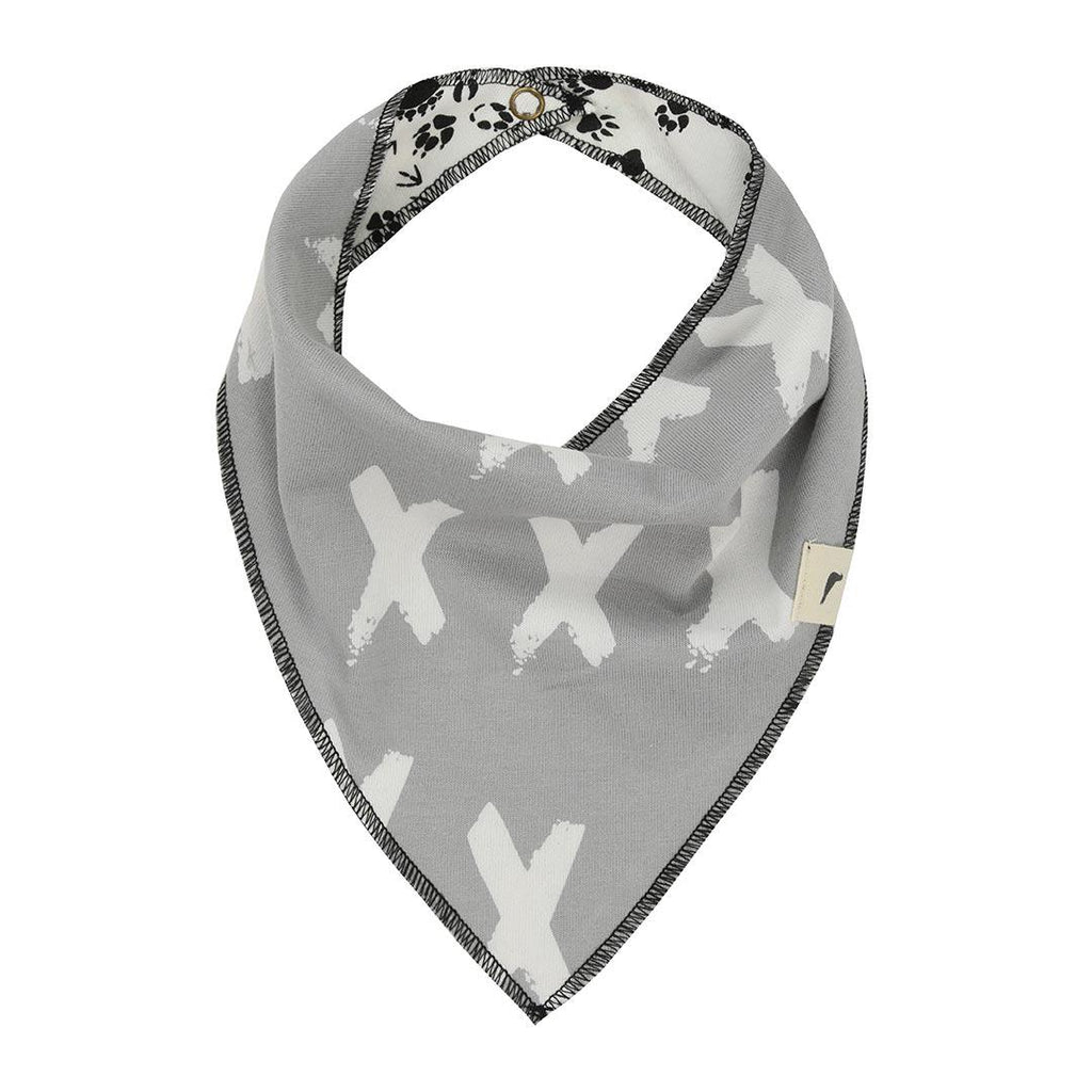 Turtledove London Reversible Bib - Kisses/Footprints Reversed