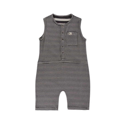 Turtledove London Reversible Jersey Stripe Shortie Dungarees - Mono-Dungarees- Natural Baby Shower