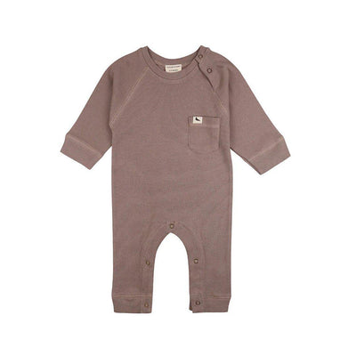 Turtledove London Rib Playsuit - Stone-Rompers- Natural Baby Shower