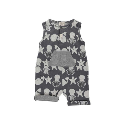 Turtledove London Sea Friends Jaquard Shortie Tank - Mono-Vests- Natural Baby Shower