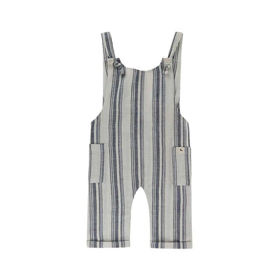 Turtledove London Sea Stripe Dungaree - Mono-Dungarees- Natural Baby Shower
