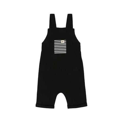 Turtledove London Shortie Dungarees - Black-Dungarees- Natural Baby Shower