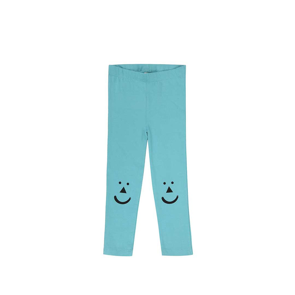 Turtledove London Slim Fit Leggings - Face Knee Teal-Leggings- Natural Baby Shower