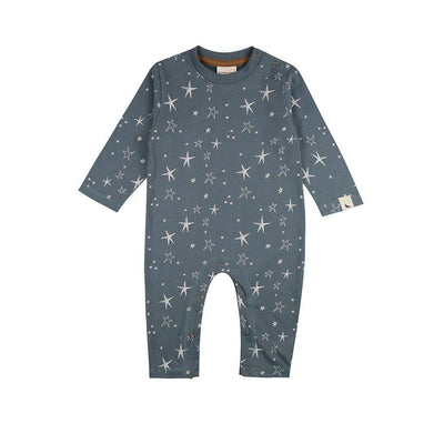 Turtledove London Super Star Playsuit - Steel-Rompers- Natural Baby Shower