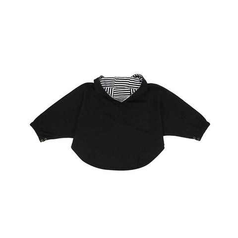 Turtledove London Sweat Cape - Black-Hoodies- Natural Baby Shower