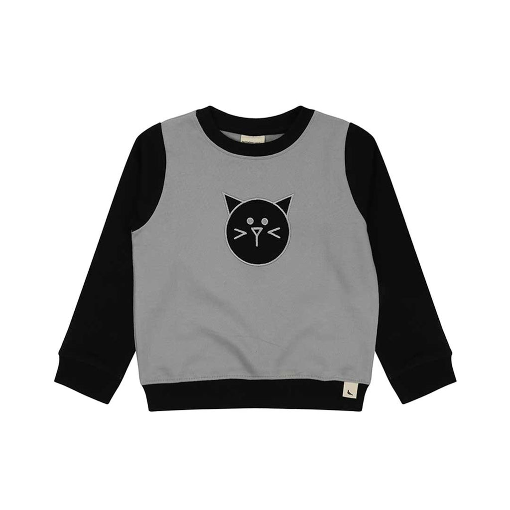 Turtledove London Sweatshirt - Cat Applique-Long Sleeves- Natural Baby Shower
