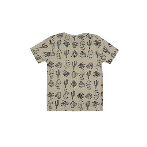 Turtledove London T-Shirt - Cactus Print-Short Sleeves- Natural Baby Shower