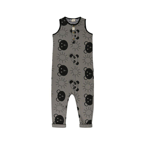 Turtledove London Tank Dungarees - Beach Pals-Dungarees- Natural Baby Shower