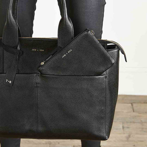 JEM + BEA Jemima Changing Bag - Black-Changing Bags- Natural Baby Shower