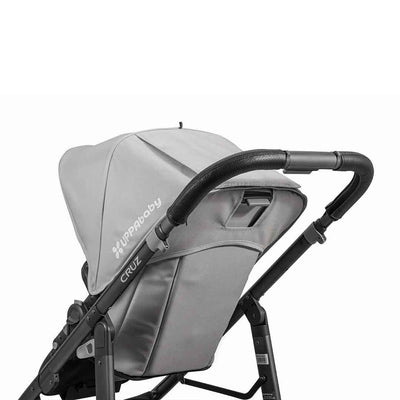 Uppababy Cruz Pushchair Leather Handlebar Cover - Black-Handlebar Grips- Natural Baby Shower