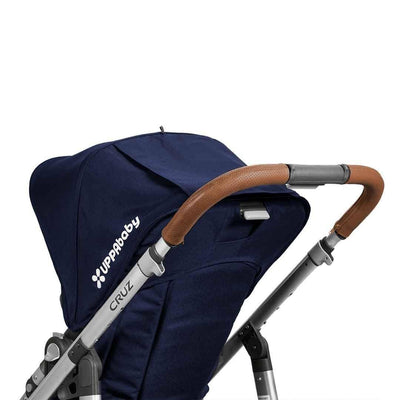 Uppababy Cruz Pushchair Leather Handlebar Cover - Saddle-Handlebar Grips- Natural Baby Shower