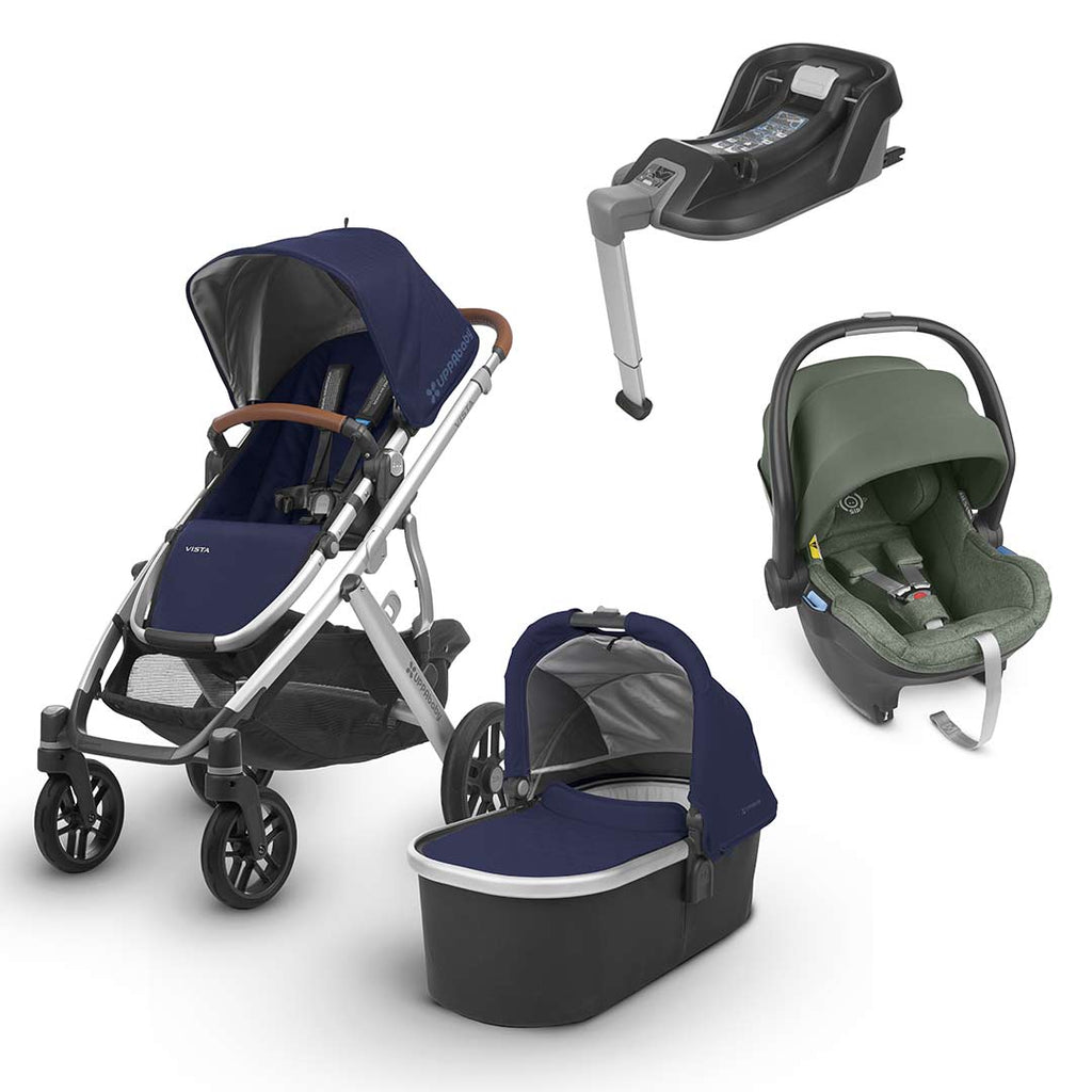 Uppababy Vista Travel System - Taylor-Strollers-Emmett- Natural Baby Shower