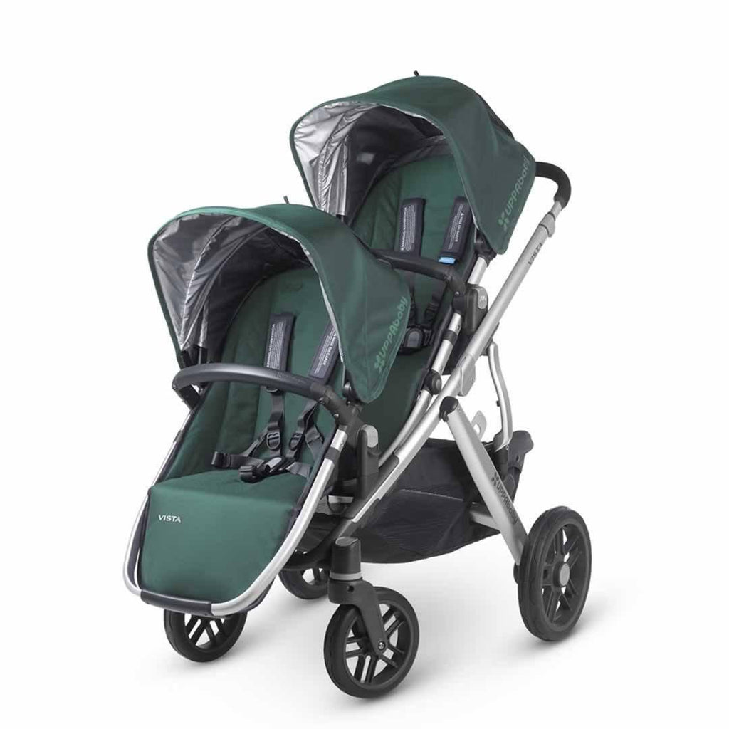 Uppababy Vista Rumble Seat - Ella on pushchair