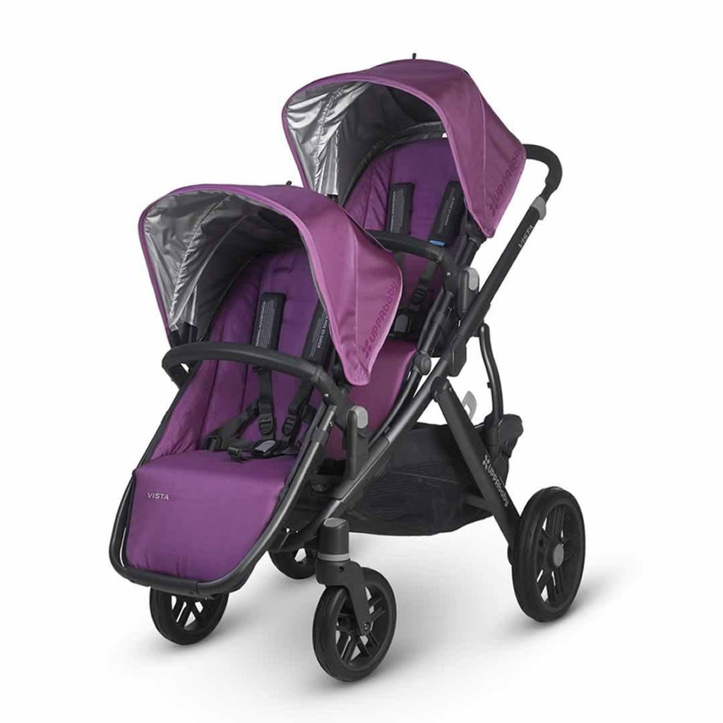 Uppababy Vista Rumble Seat - Samantha on pushchair
