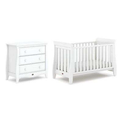 Boori Sleigh Urbane 2 Piece Nursery Set - Barley White-Nursery Sets- Natural Baby Shower