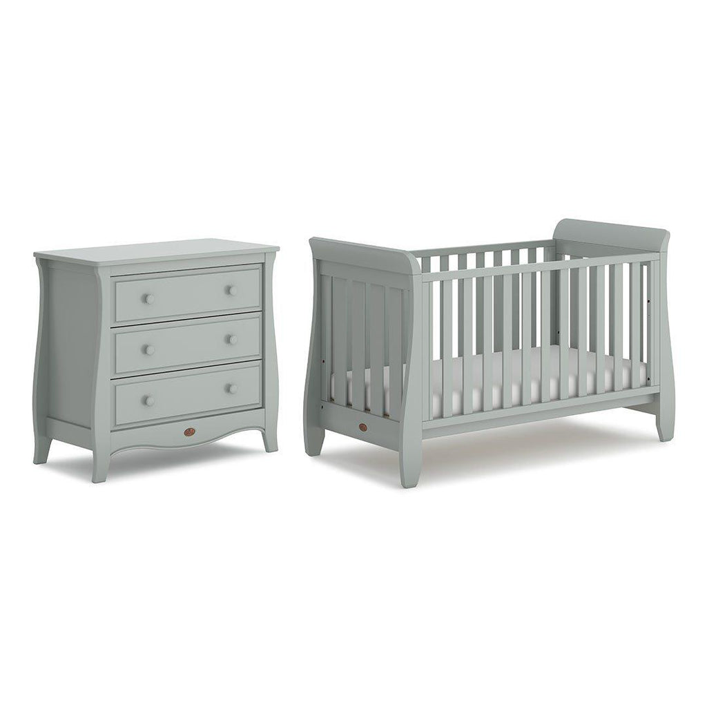 Urbane by Boori Sleigh 2 Piece Nursery Set - Pebble-Nursery Sets- Natural Baby Shower