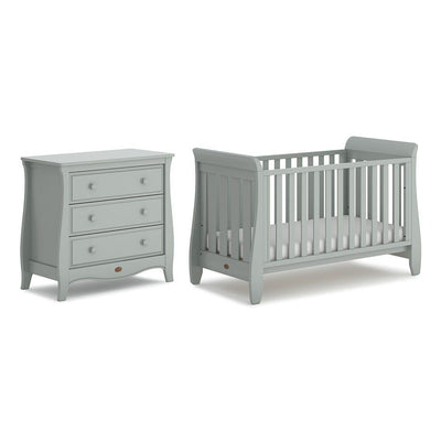 Boori Sleigh Urbane 2 Piece Nursery Set - Pebble-Nursery Sets- Natural Baby Shower
