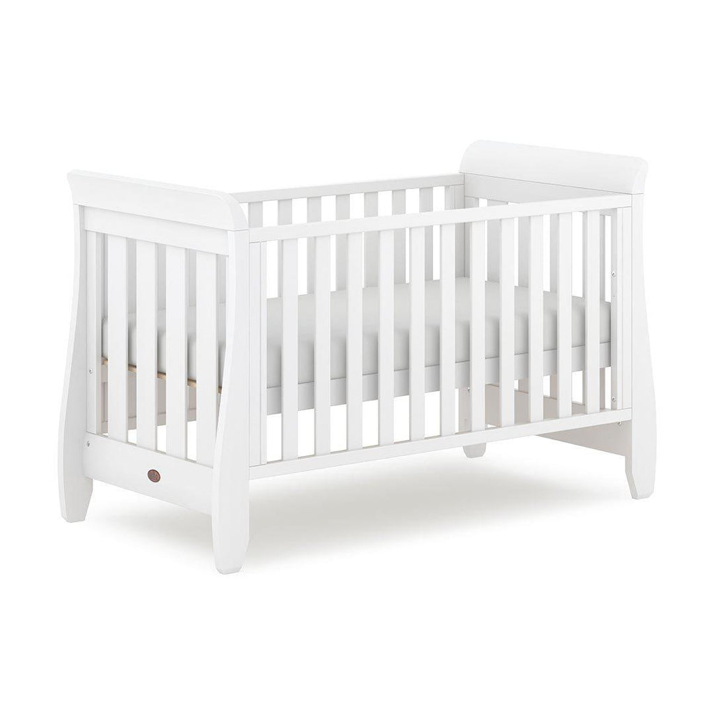 Urbane by Boori Sleigh Cot Bed - Barley White-Cot Beds- Natural Baby Shower