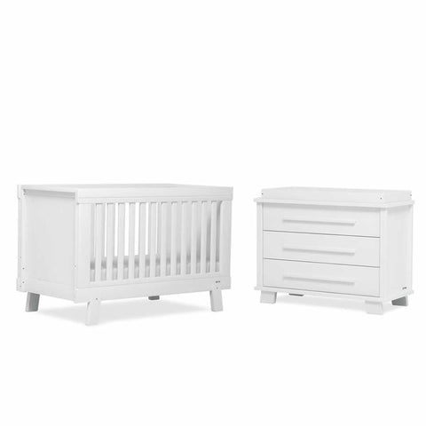 Urbane By Boori Lucia 2 Piece Nursery Set in White