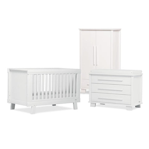 Urbane By Boori Lucia 3 Piece Nursery Set in White