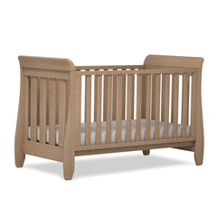 Urbane by Boori Sleigh Cot Bed in Almond