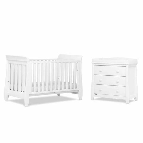 Urbane by Boori Sleigh 2 Piece Nursery Set White