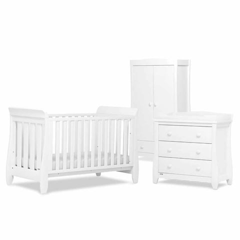 Urbane by Boori Sleigh 3 Piece Nursery Set White