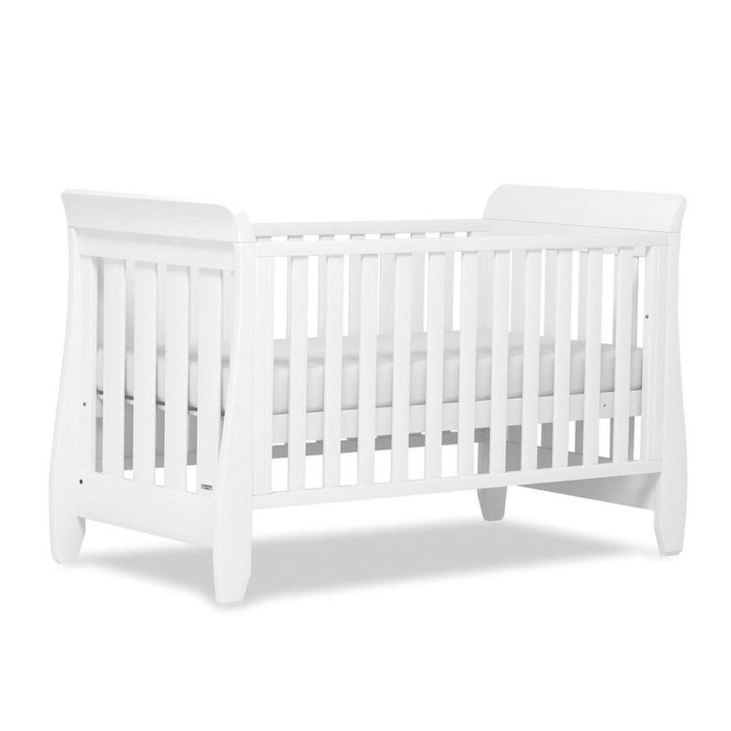 Urbane by Boori Sleigh Cot Bed in White