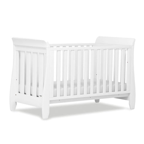 Urbane by Boori Sleigh Cot Bed - White - Cot Beds - Natural Baby Shower