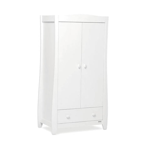 Urbane by Boori Sleigh Wardrobe in White