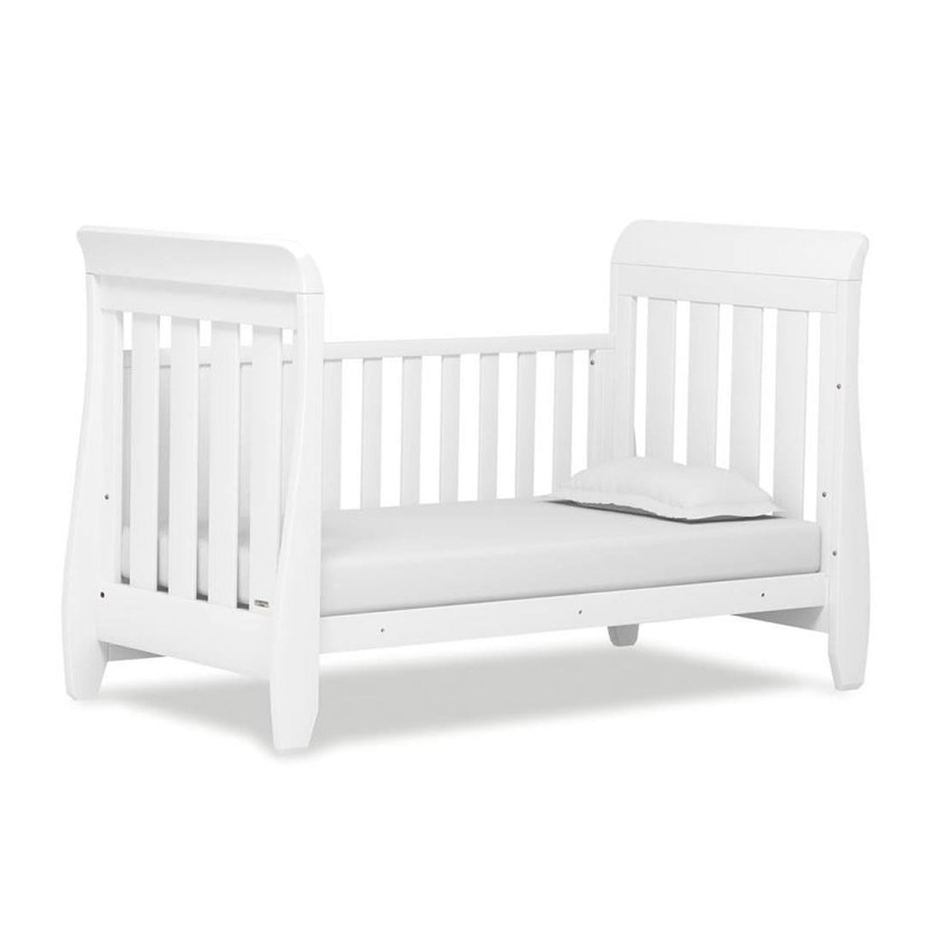 Urbane by Boori White Sleigh Cot Bed