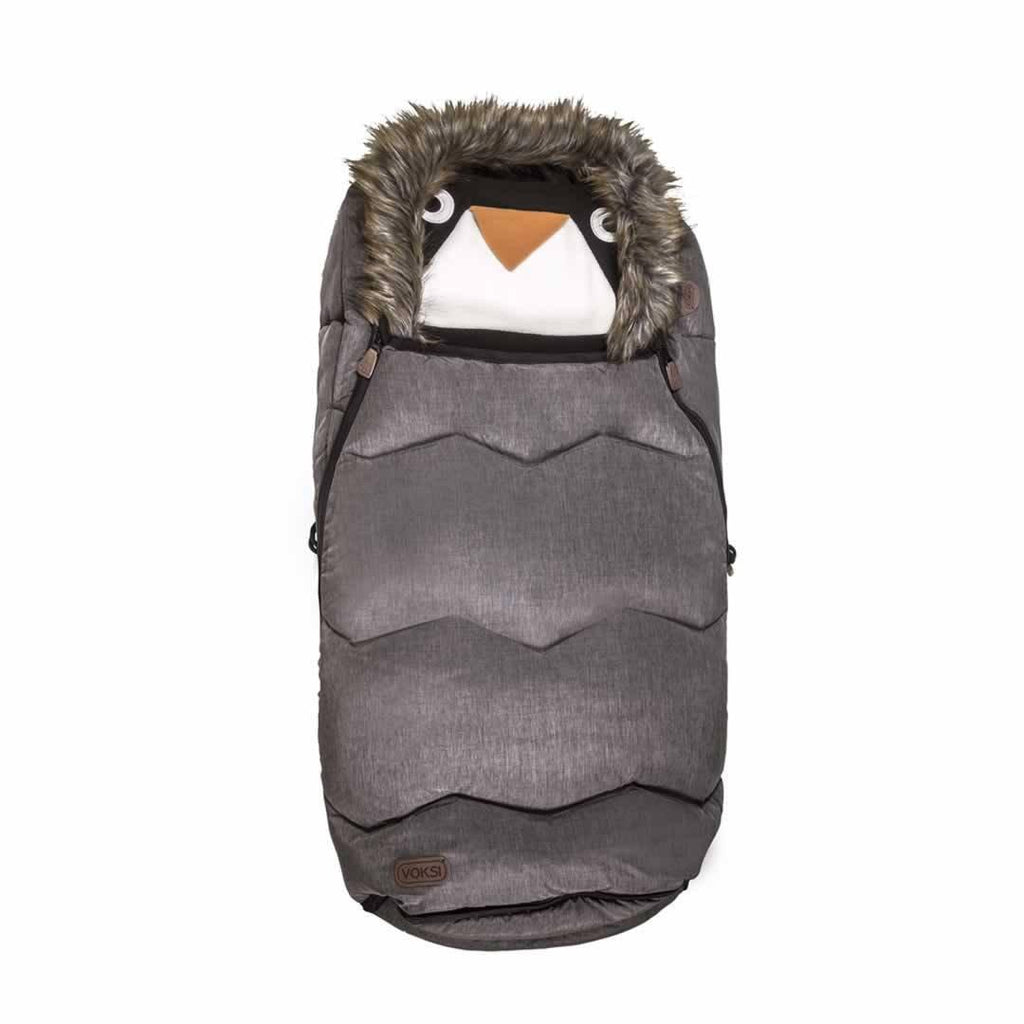 Voksi Urban Fur Footmuff in Melange Metallic