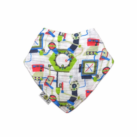 Zoe Olivia Elsdon Dribble Bib - Blueprints - Bibs - Natural Baby Shower