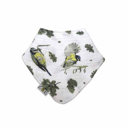 Zoe Olivia Elsdon Dribble Bib - Bluetits - Bibs - Natural Baby Shower