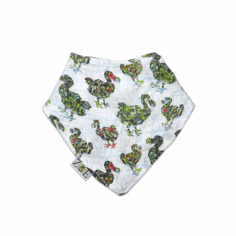 Zoe Olivia Elsdon Dribble Bib - Mechinised Dodos - Bibs - Natural Baby Shower