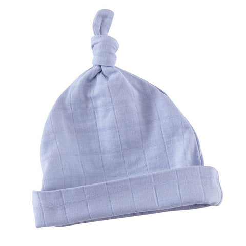 aden + anais Knotted Baby Hat - Brunnera Blue