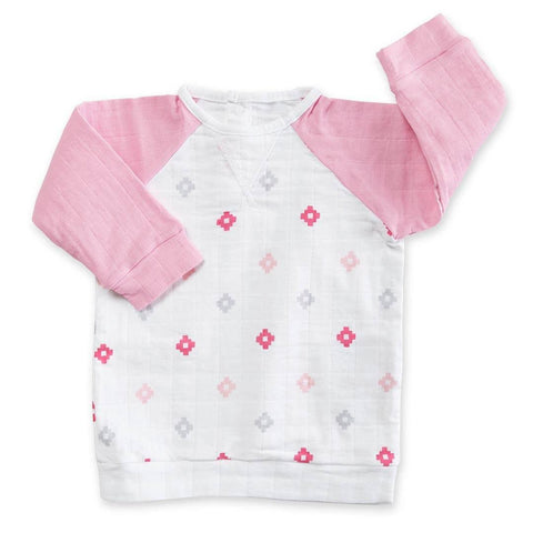 aden + anais Baseball Top - Pink Aztec - Tops & T-shirts - Natural Baby Shower